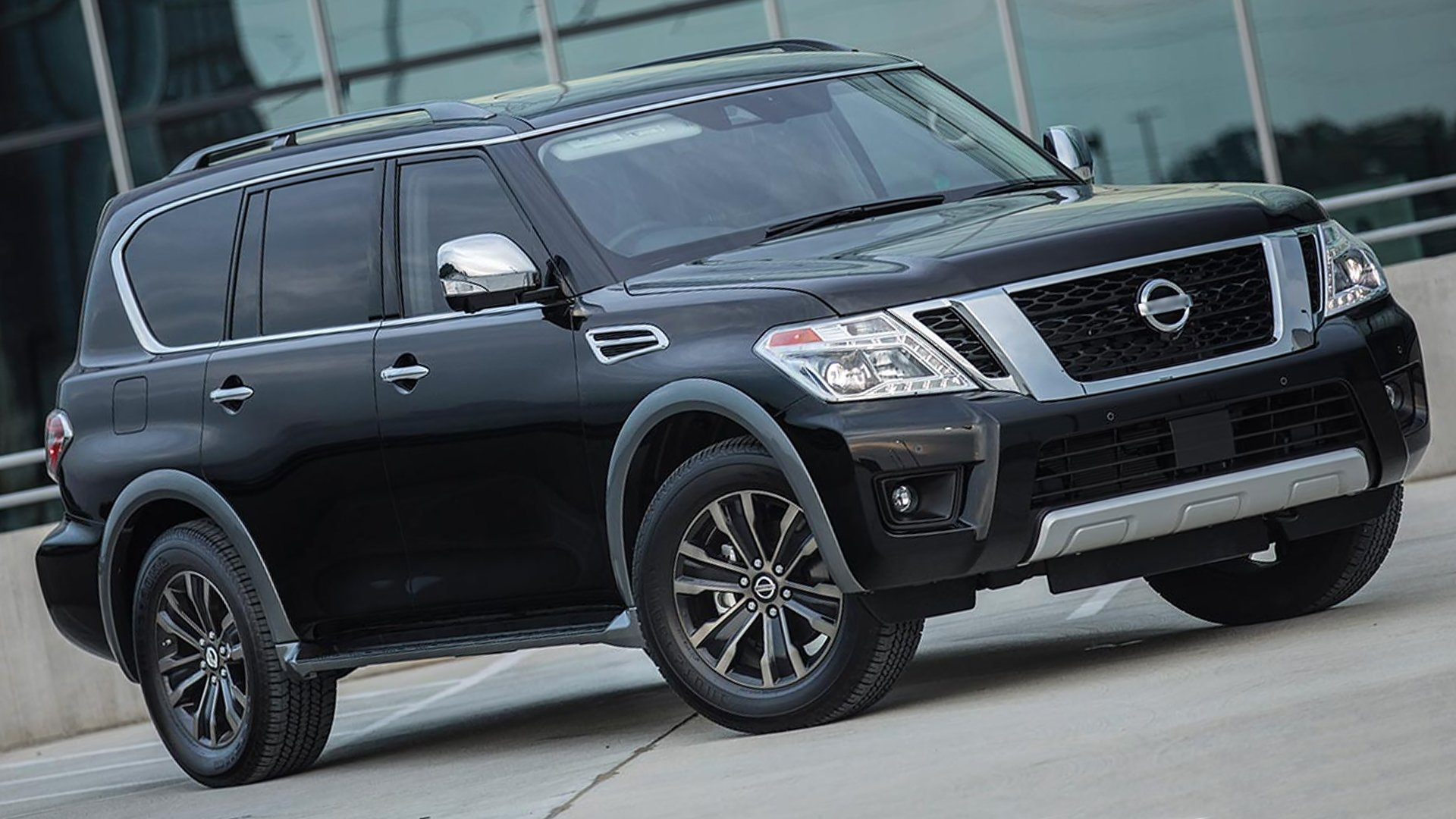 New 2018 Nissan Armada Black HD