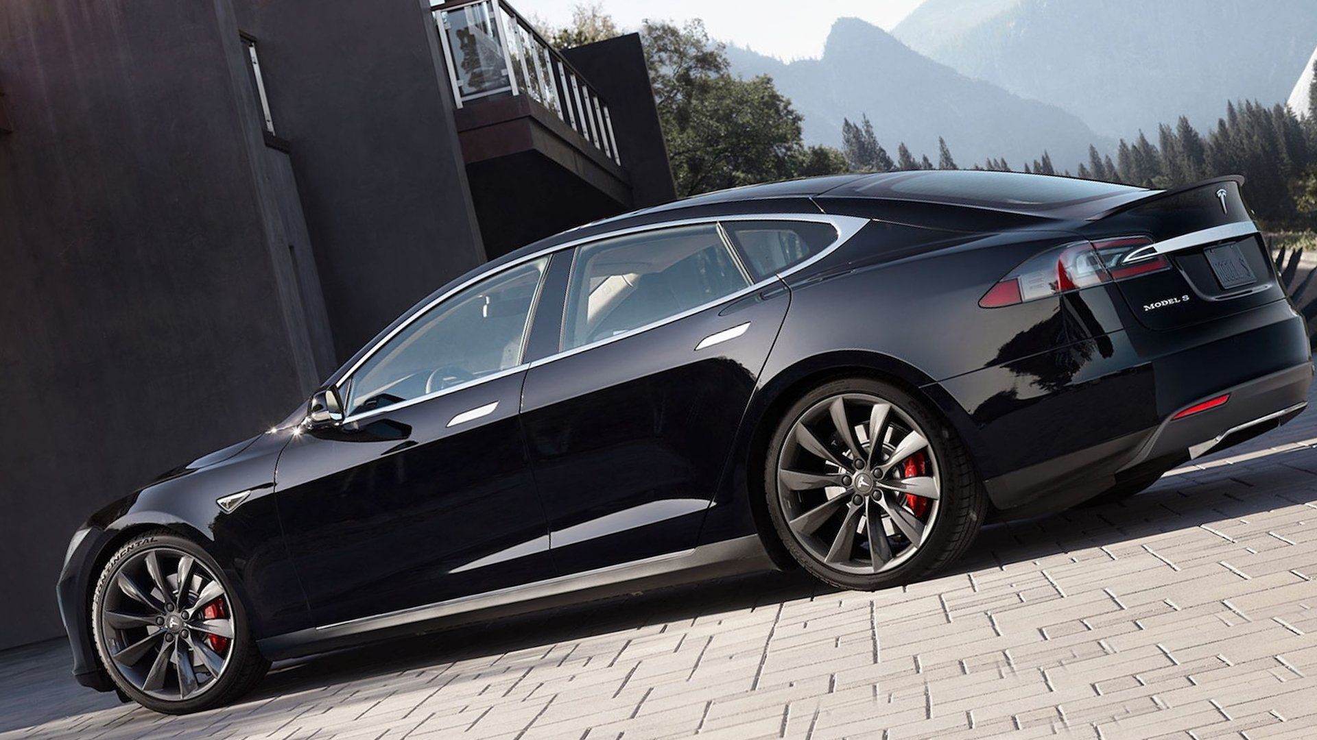 Black Tesla Model S HD