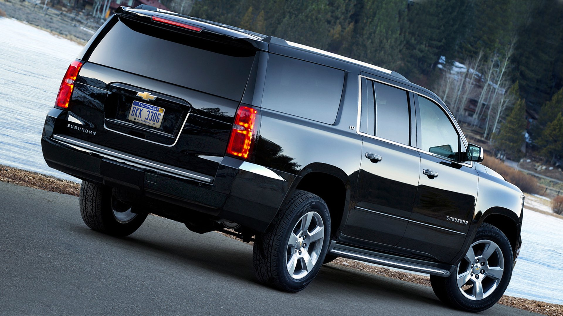 Black Chevrolet Suburban 2019 HD