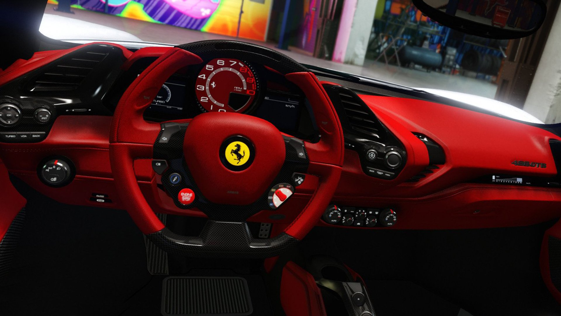 Interior Ferrari 488 GTB 2019 HD